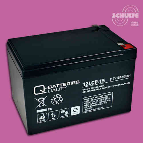 Q-Batteries 12LCP-15 | 12V 15Ah