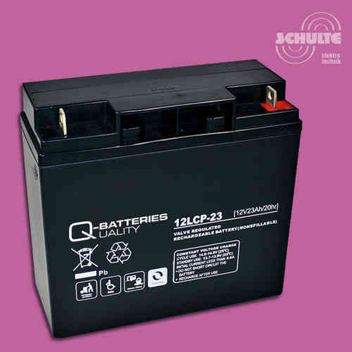 Q-Batteries 12LCP-23 | 12V 23Ah