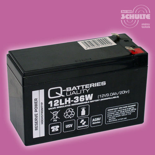 Q-Batteries 12LH-36W | 12V 9Ah