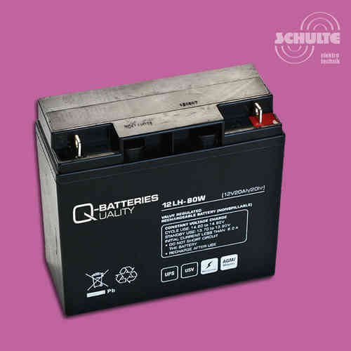 Q-Batteries 12LH-80W | 12V 20Ah
