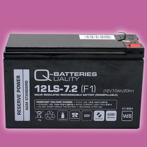 Q-Batteries 12LS-7.2 F1 (VdS) | 12V 7,2Ah