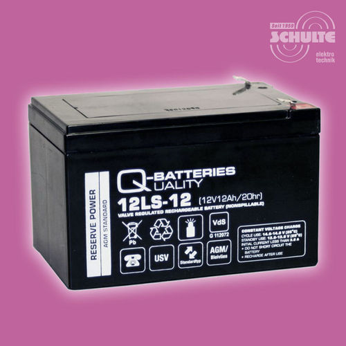 Q-Batteries 12LS-12 F2 (VdS) | 12V 12Ah