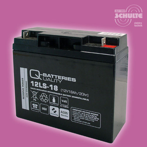 Q-Batteries 12LS-18 (VdS) | 12V 18Ah