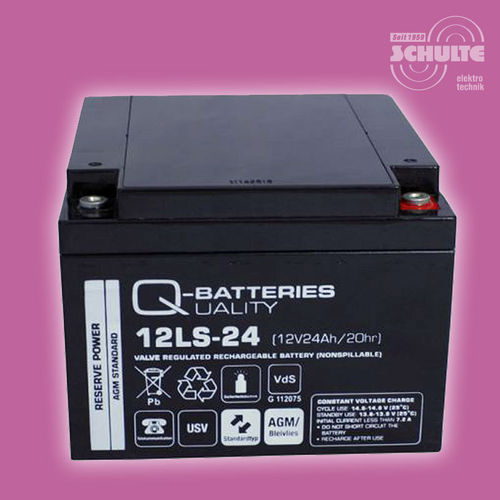 Q-Batteries 12LS-24 (VdS) | 12V 24Ah