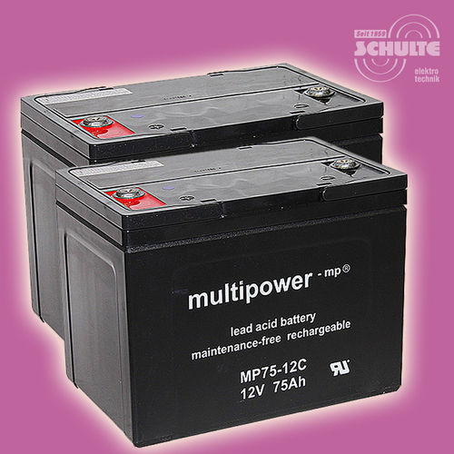 2 x Multipower MP75-12C