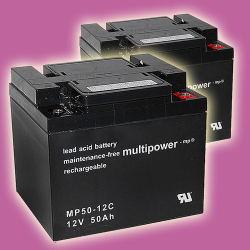 2 x Multipower MP50-12C