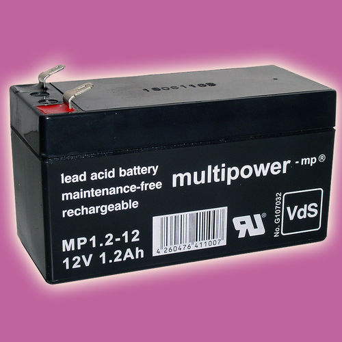 Multipower MP1,2-12 (VdS) | 12V 1,2Ah