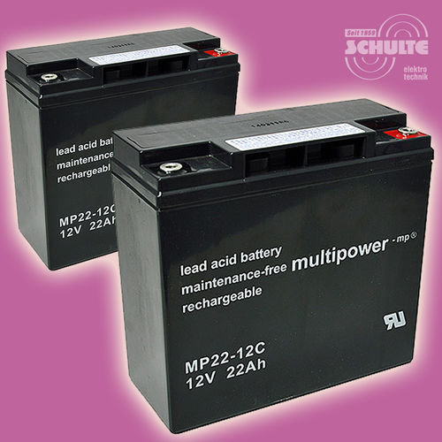 2 Stück Multipower MP22-12C | 12V 22Ah