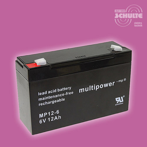 Multipower MP12-6 | 6V 12Ah