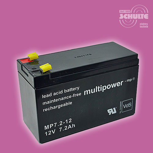 Multipower MP7,2-12 (VdS) | 12V 7,2Ah