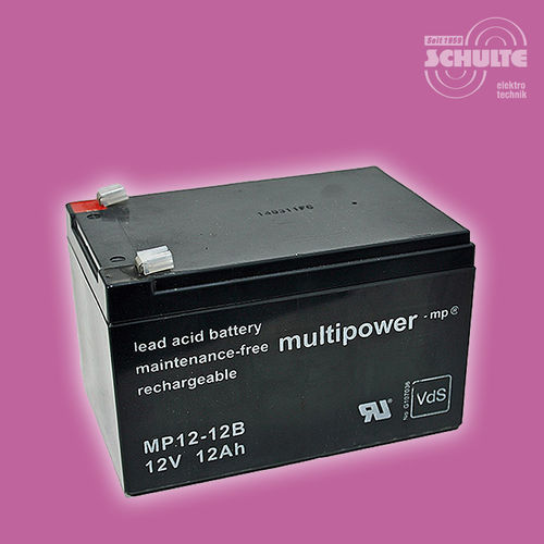 Multipower MP12-12B (VdS) | 12V 12Ah