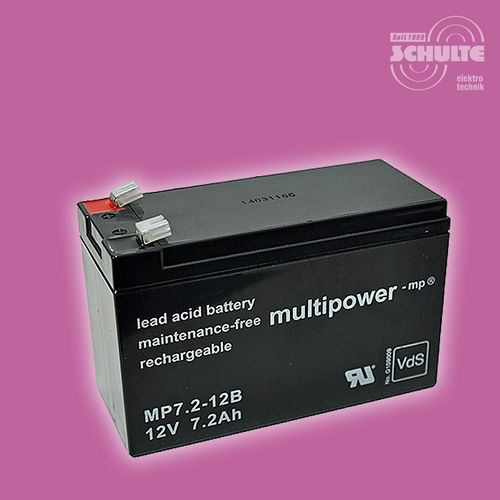 Multipower MP7,2-12B (VdS) | 12V 7,2Ah