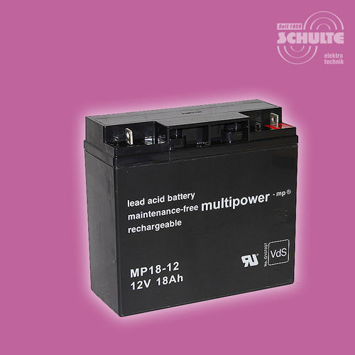 Multipower MP18-12 (VdS) | 12V 18Ah